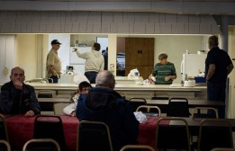 Every Thursday, volunteers of Avondale United Methodist Church, off of 10th and Sampson St in Muncie, Ind., April 12, prepares a meal for families and people in the community. For some attendees, Avondale has become a third home and others, itÕs a place to get a safe meal other than the soup kitchen. Grace Hollars, NPPA