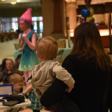 Moms came with their children at the Muncie Mall on April 14 to visit Princess Troll.