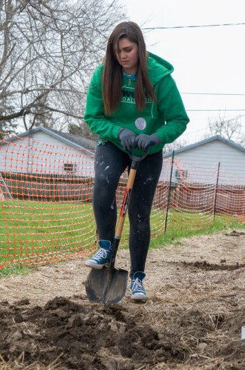 Maralee Frush works with Habitat for Humanity as their volunteer assistant. When their coordinator Diane Wellman isn't present at a site, Frush is there to work with Jay Earehart and lead volunteers on different tasks in the homes they restore.