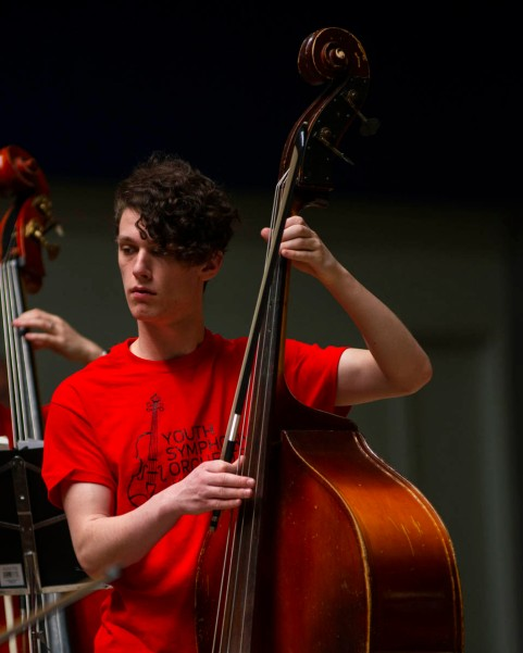 A Youth Symphony Orchestra of East Central Indiana member plays the cello at the Muncie Outreach concert on April 13 at the Muncie Mall. Breanna Daugherty | SFG